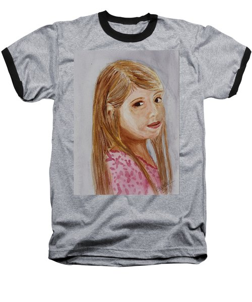 Baseball T-Shirt featuring the painting Gabriella by Donna Walsh