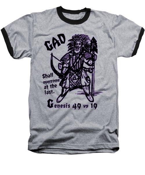 Gad At The Last-purple Trim Baseball T-Shirt