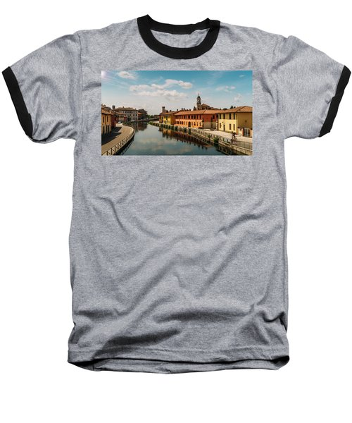 Gaggiano On The Naviglio Grande Canal, Italy Baseball T-Shirt