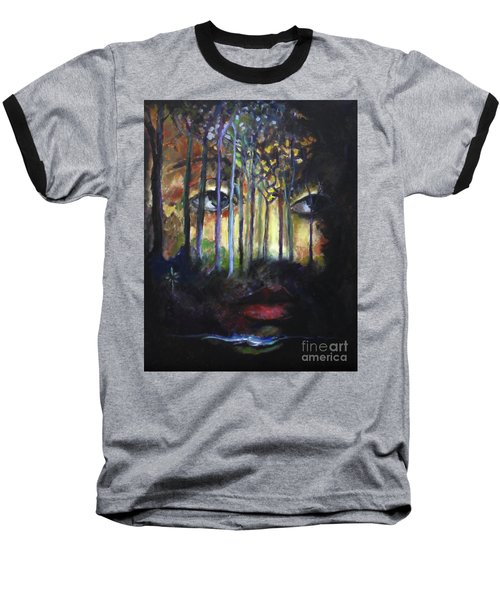 Gaia Baseball T-Shirt by Jodie Marie Anne Richardson Traugott          aka jm-ART