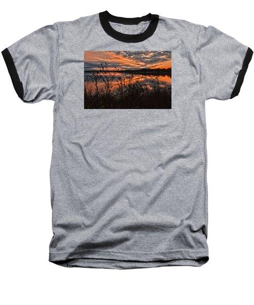 Gainesville Sunset 2386w Baseball T-Shirt by Ricardo J Ruiz de Porras