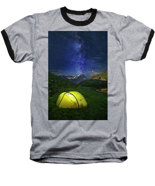 Galactic Eruption Baseball T-Shirt