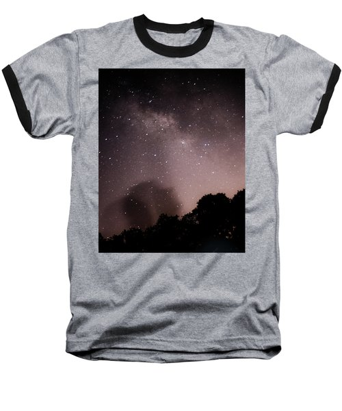 Galaxy Beams Me Baseball T-Shirt by Carolina Liechtenstein