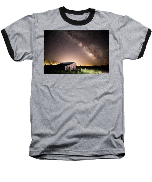 Baseball T-Shirt featuring the photograph Galaxy In Star Valley by Wesley Aston