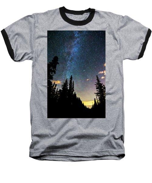 Baseball T-Shirt featuring the photograph  Galaxy Rising by James BO Insogna