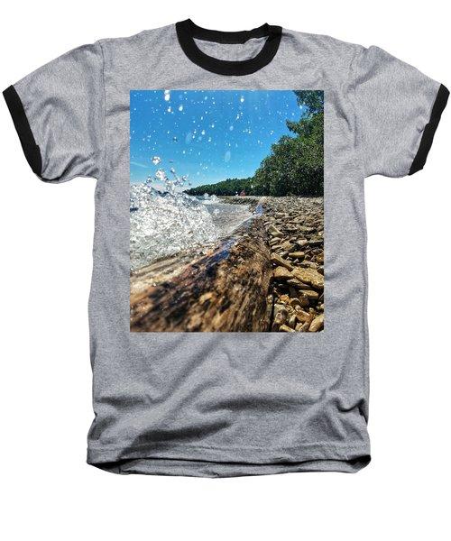 Galaxy Splash Baseball T-Shirt by Nikki McInnes