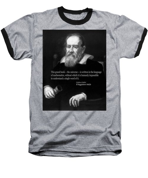 Galileo On Mathematics Bw Baseball T-Shirt