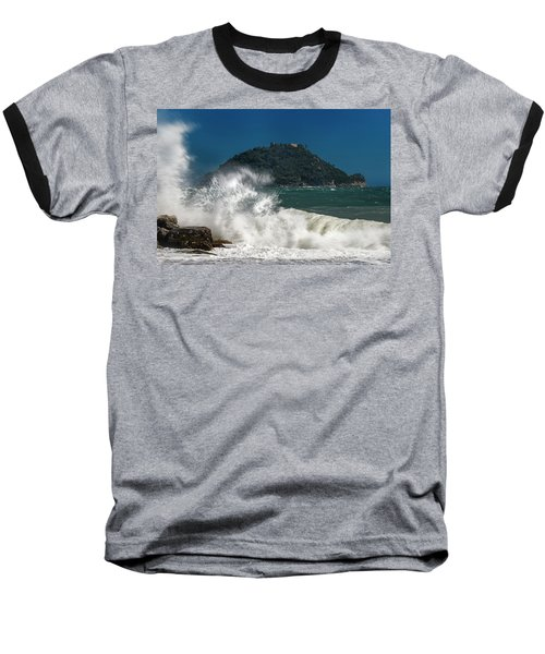 Gallinara Island Seastorm - Mareggiata All'isola Gallinara Baseball T-Shirt