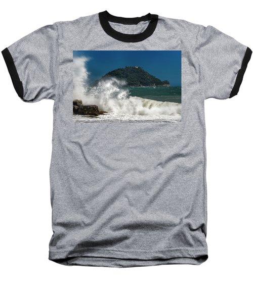 Gallinara Island Seastorm - Mareggiata All'isola Gallinara Baseball T-Shirt