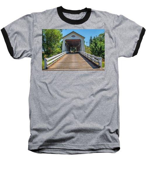 Gallon House Covered Bridge Baseball T-Shirt