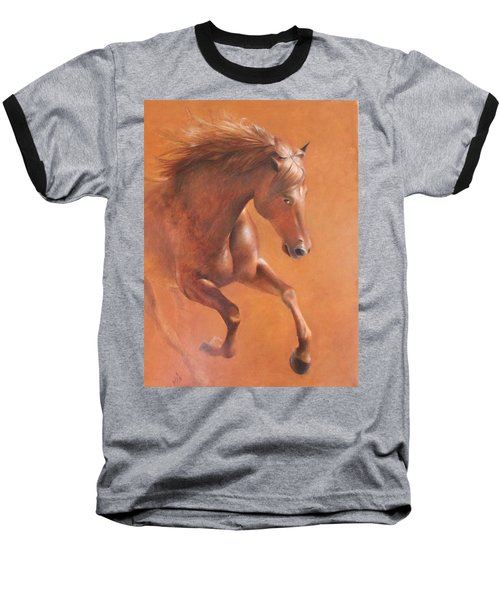 Gallop In The Desert Baseball T-Shirt by Vali Irina Ciobanu