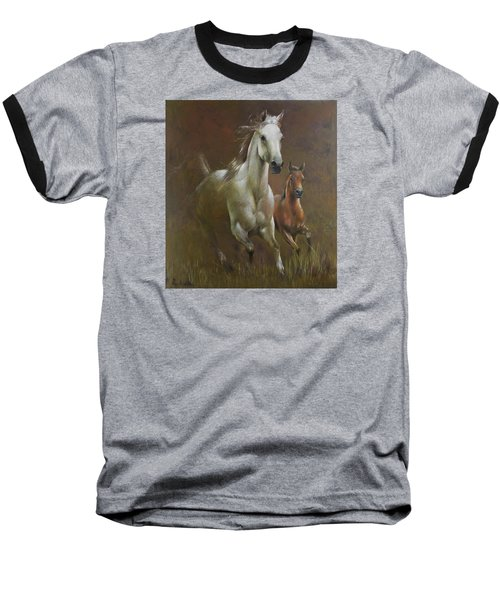 Gallop In The Eyelash Of The Morning Baseball T-Shirt by Vali Irina Ciobanu