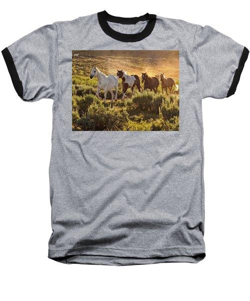 Galloping Down The Mountain Baseball T-Shirt
