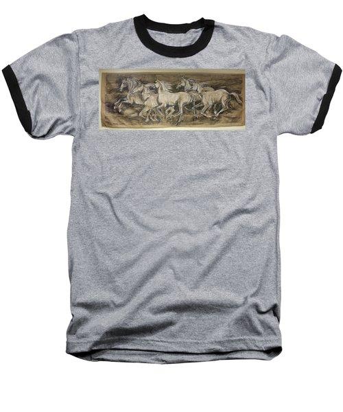 Galloping Stallions Baseball T-Shirt