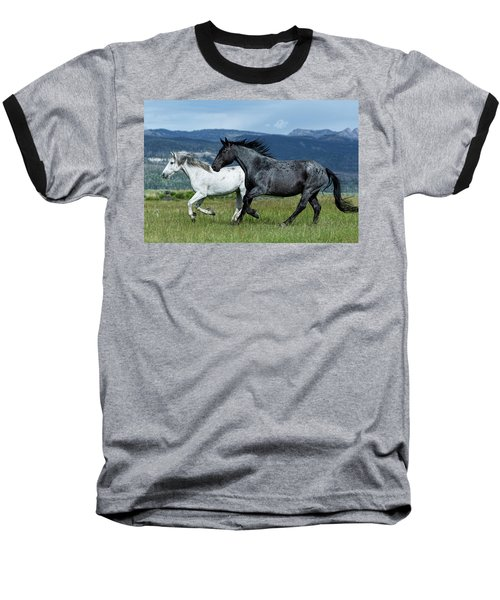 Galloping Through The Scenery In Wyoming Baseball T-Shirt