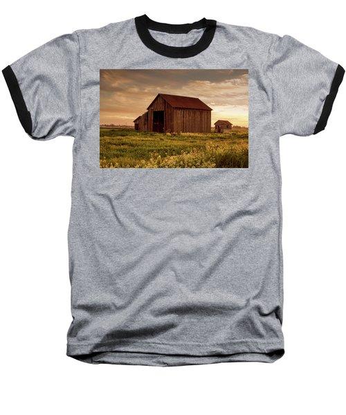 Galt Barn At Sunset Baseball T-Shirt