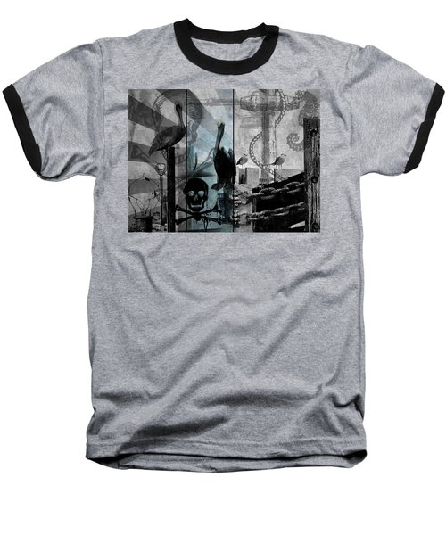 Galveston - Home To Pirates And Pelicans Baseball T-Shirt by Karl Reid