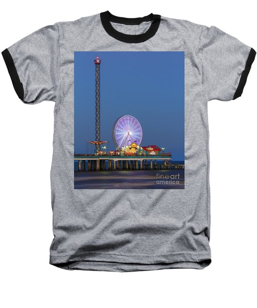 Galveston Pier  Baseball T-Shirt