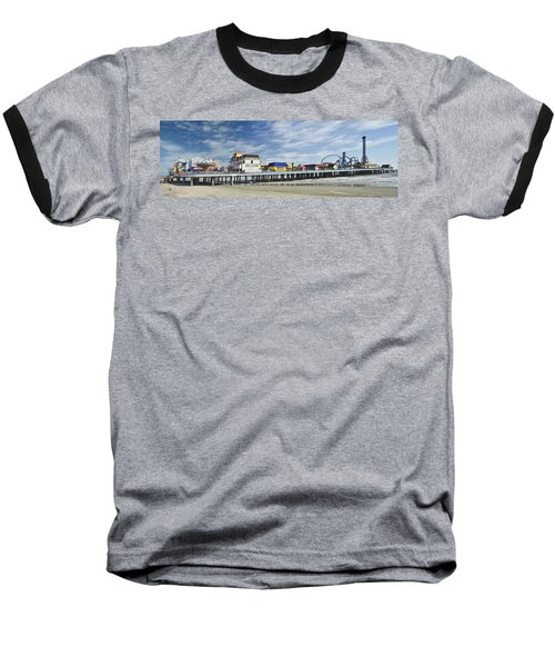 Galveston Pleasure Pier Baseball T-Shirt