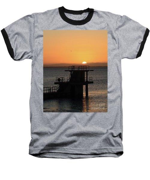 Galway Bay Sunrise Baseball T-Shirt