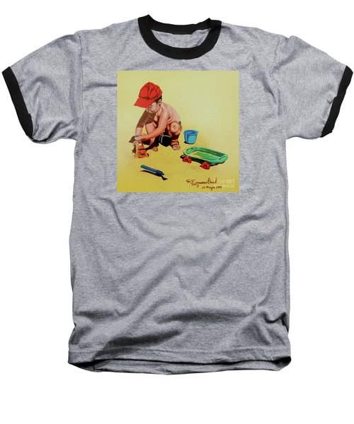 Game At The Beach - Juego En La Playa Baseball T-Shirt