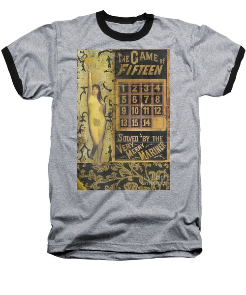Baseball T-Shirt featuring the mixed media Game Of Fifteen by Desiree Paquette