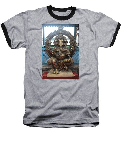Ganapati Bronze Statue, Fort Kochi Baseball T-Shirt by Jennifer Mazzucco