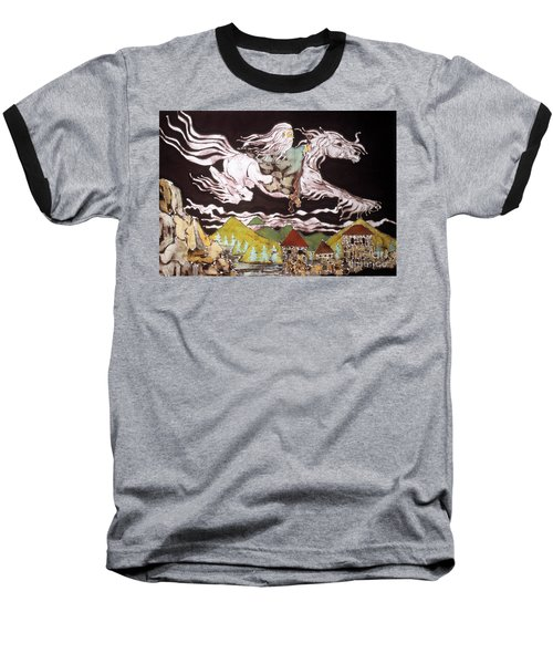Gandalf And Shadowfax Baseball T-Shirt