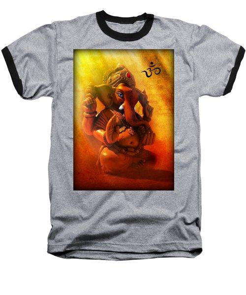 Ganesha Hindu God Asian Art Baseball T-Shirt