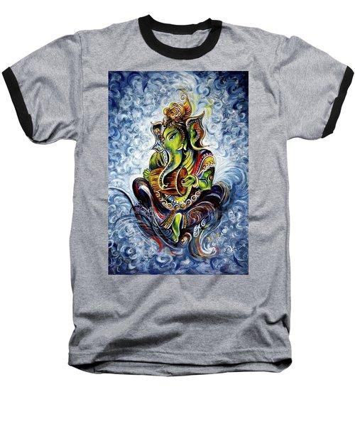 Ganesha Mridangam  Baseball T-Shirt