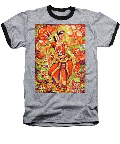 Ganges Flower Baseball T-Shirt by Eva Campbell