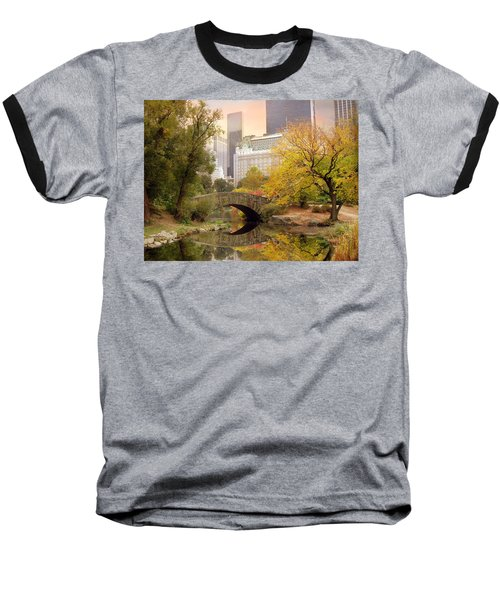 Gapstow Bridge Reflections Baseball T-Shirt