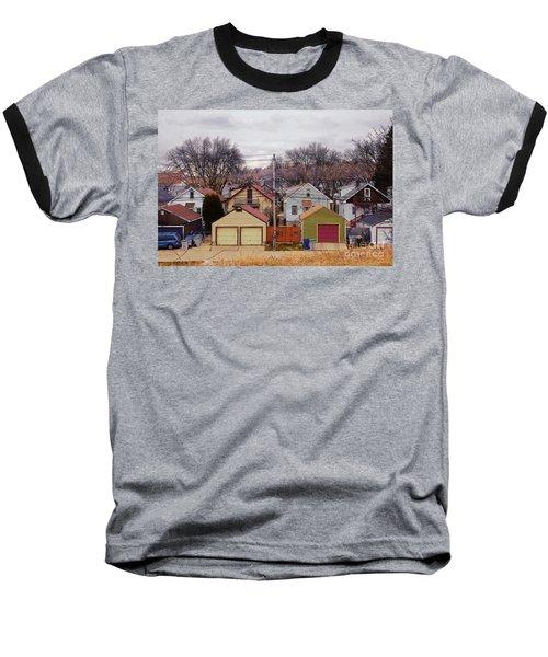 Garages Baseball T-Shirt by David Blank