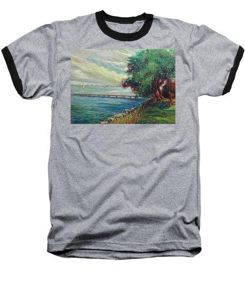 Garda Lake -lago Garda Baseball T-Shirt by Walter Casaravilla