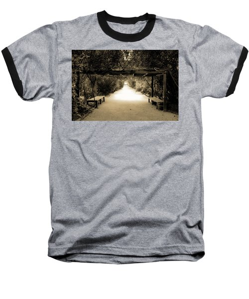 Garden Arbor In Sepia Baseball T-Shirt