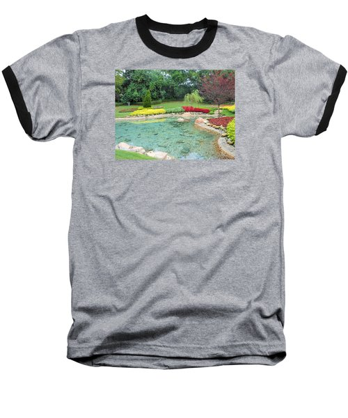 Baseball T-Shirt featuring the photograph Garden At Epcot by Kay Gilley