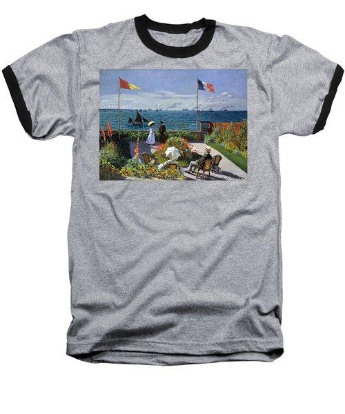 Garden At Sainte Adresse By Claude Monet Baseball T-Shirt