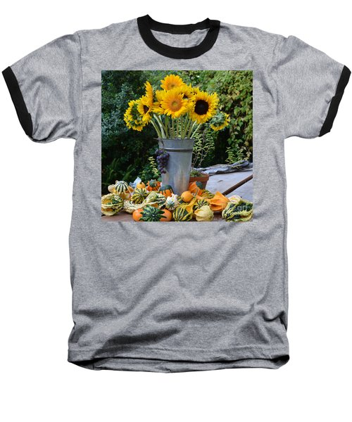 Garden Bounty In Yellow And Green Baseball T-Shirt