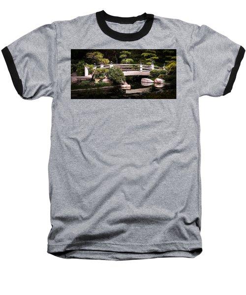 Garden Bridge Baseball T-Shirt by Ed Clark