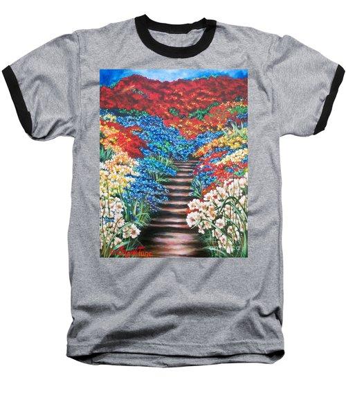 Garden Cascade Baseball T-Shirt