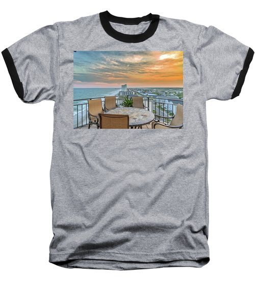 Garden City Beach View Baseball T-Shirt