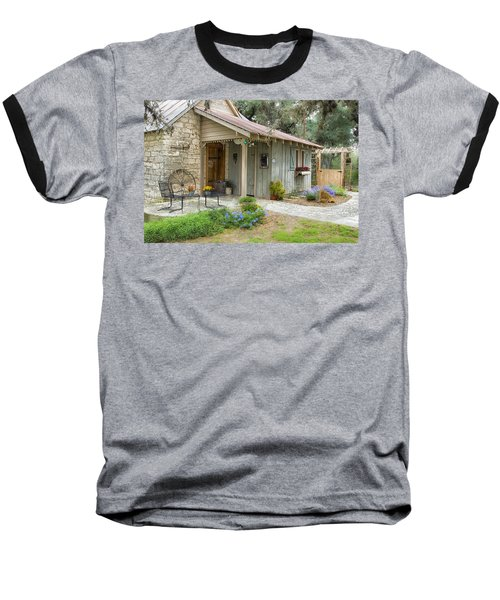 Garden Cottage Baseball T-Shirt by Kathy Adams Clark