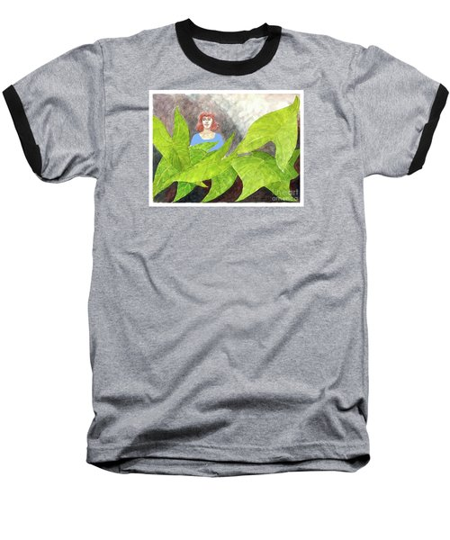 Garden Fantasy  Baseball T-Shirt by Fred Jinkins