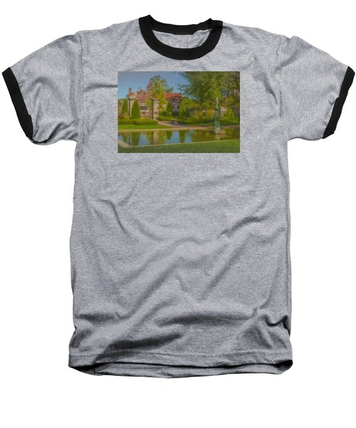 Garden Fountain At Ames Free Library Baseball T-Shirt