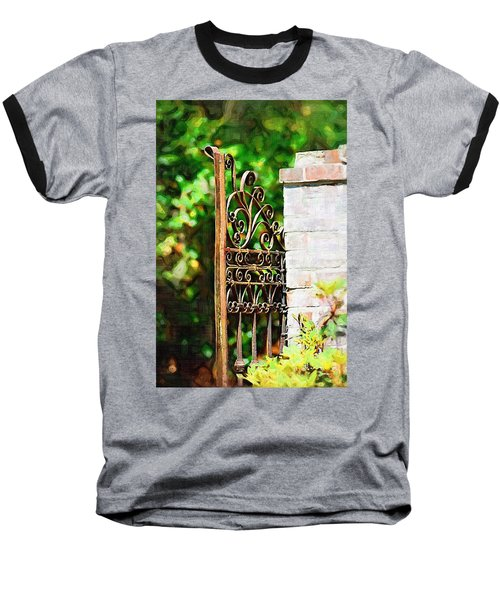 Baseball T-Shirt featuring the photograph Garden Gate by Donna Bentley