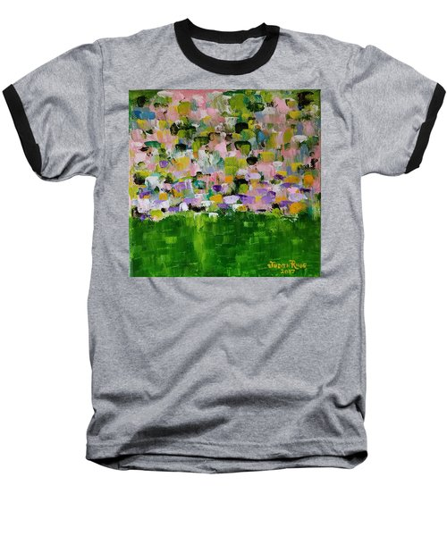 Baseball T-Shirt featuring the painting Garden Glory by Judith Rhue