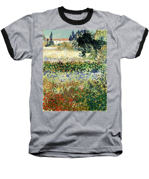 Baseball T-Shirt featuring the painting Garden In Bloom by Van Gogh