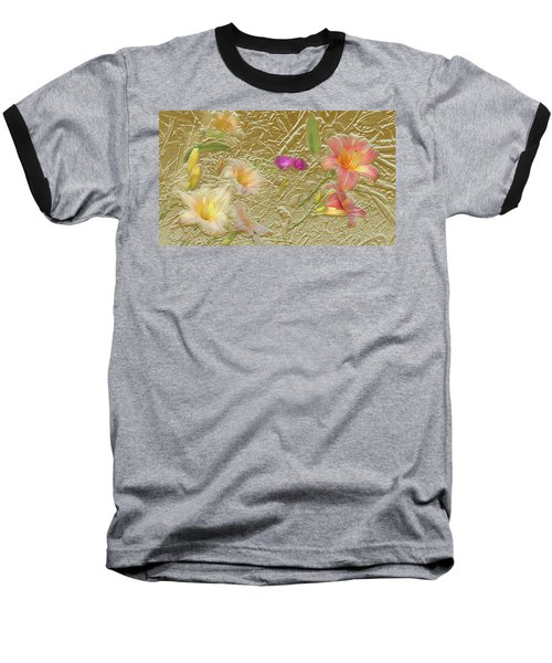 Garden In Gold Leaf2 Baseball T-Shirt