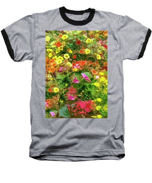 Garden Of Color Baseball T-Shirt by Josy Cue