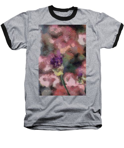 Baseball T-Shirt featuring the mixed media Garden Of Love by Trish Tritz